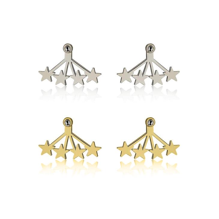 Aretes Colgantes de Estrellas