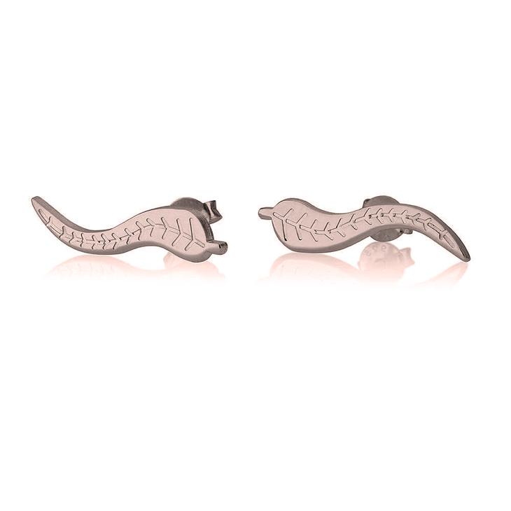 Boucles d'oreilles Manchettes Feuille Montante