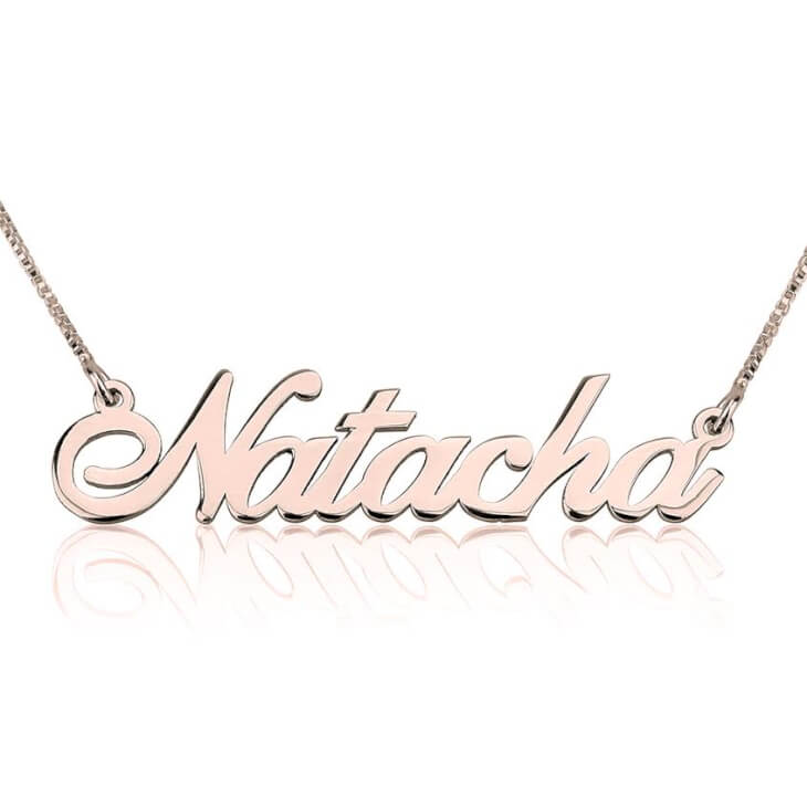 Rose Gold Alegro Name Necklace