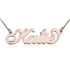 Rose Gold Carrie Name Necklace