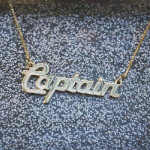 24K Gold Plated Italic Name Necklace -                          	How it looks in reality - Thumbnail - 2