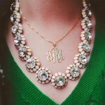 Collier Monogramme en Plaqué Or -                          	How it looks in reality - Thumbnail - 4
