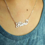 Carrie Name Necklace -                          	How it looks in reality - Thumbnail - 9