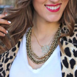 24K Gold Plated Curly Split Chain Monogram Necklace -                          	How it looks in reality - Thumbnail - 17
