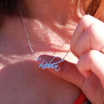 Sterling Silver Script Name Necklace - How it looks in reality - Thumbnail - 7