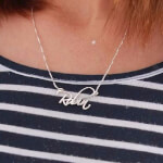 Sterling Silver Script Name Necklace -                          	How it looks in reality - Thumbnail - 0