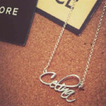 Sterling Silver Script Name Necklace - How it looks in reality - Thumbnail - 2