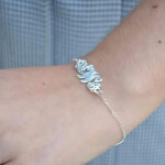 Sterling Silver Monogram Bracelet -                          	How it looks in reality - Thumbnail - 0